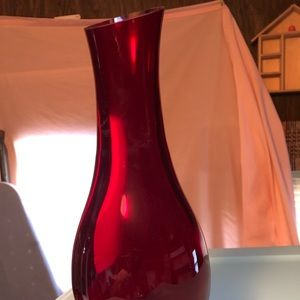 Ruby Red Vase